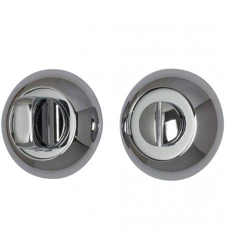 Фиксатор на круглой розетке для межкомнатной двери «А/Z-4WC»  C Хром