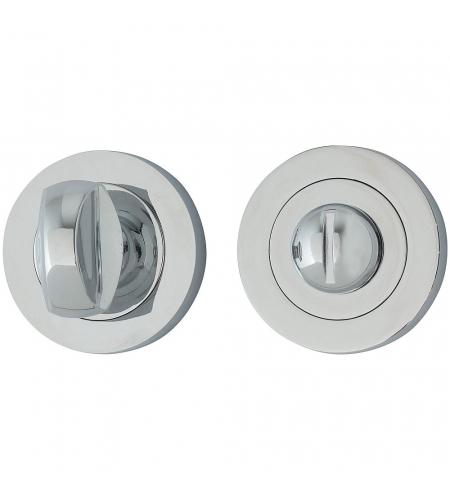 Фиксатор на круглой розетке для межкомнатной двери «A/Z-6WC»  C Хром
