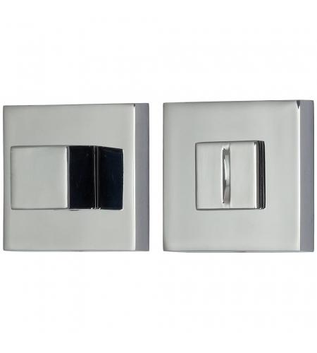 Фиксатор на квадратной розетке для межкомнатной двери «A/Z-9WC»  C Хром