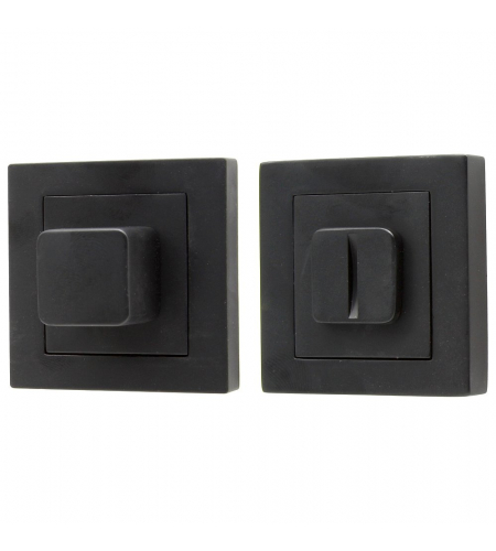Фиксатор на квадратной розетке для межкомнатной двери «A/Z-2WC»  SB МатЧерный