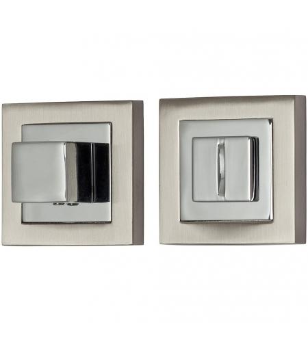 Фиксатор на квадратной розетке для межкомнатной двери «A/Z-2WC»  SN/C МатНикель/Хром
