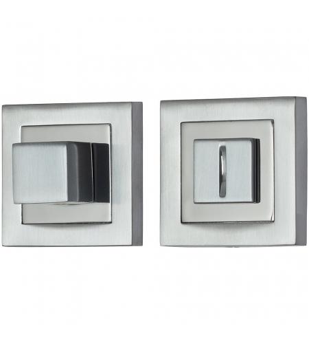 Фиксатор на квадратной розетке для межкомнатной двери «A/Z-2WC»  SC МатХром