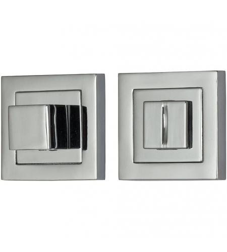 Фиксатор на квадратной розетке для межкомнатной двери «A/Z-2WC»  C Хром