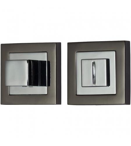 Фиксатор на квадратной розетке для межкомнатной двери «A/Z-2WC»  BN/C Черный никель/Хром