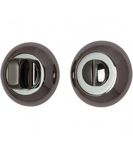Фиксатор на круглой розетке для межкомнатной двери «А/Z-4WC»  BN Черный Никель