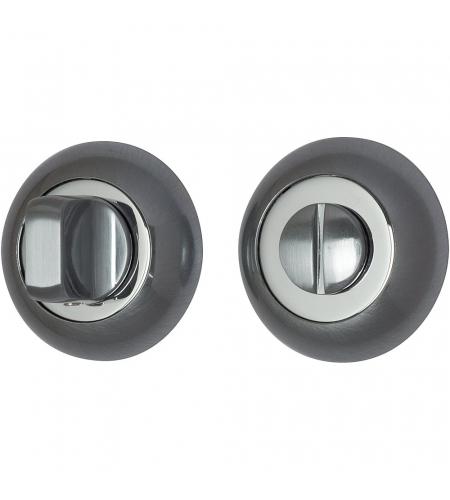 Фиксатор на круглой розетке для межкомнатной двери «А/Z-4WC»  SC МатХром