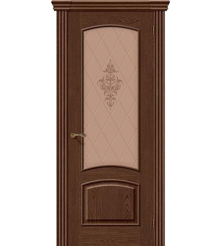 Дверь межкомнатная шпонированная «Амальфи»  Виски художественное остекление