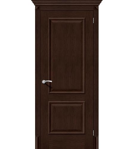 Дверь межкомнатная из эко шпона «Классико-12»  Antique Oak глухая