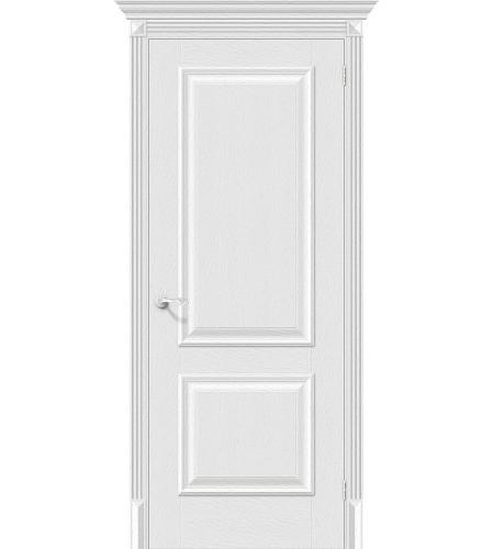 Дверь межкомнатная из эко шпона «Классико-12»  Virgin глухая