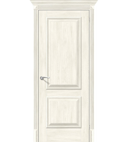 Дверь межкомнатная из эко шпона «Классико-12»  Nordic Oak глухая