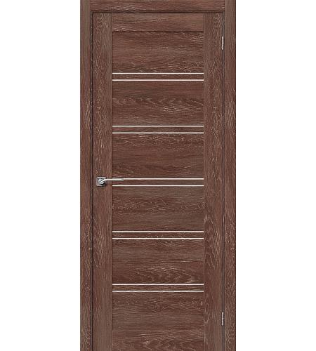 Дверь межкомнатная из эко шпона «Легно-28»  Chalet Grande остекление Сатинато белое