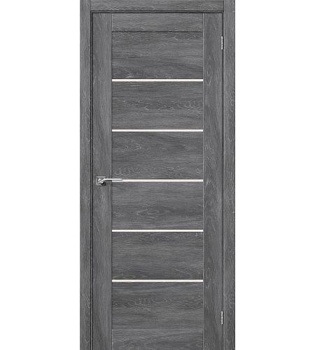 Дверь межкомнатная из эко шпона «Легно-22»  Chalet Grasse остекление Сатинато белое