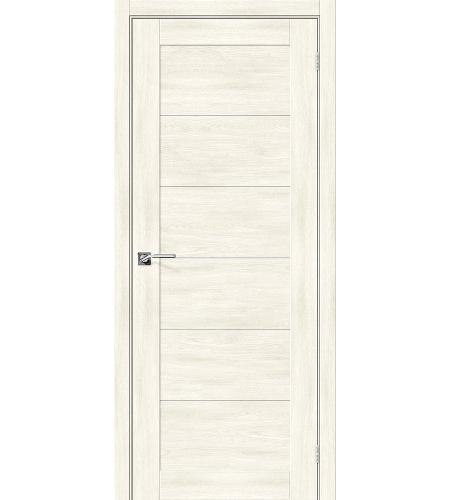 Дверь межкомнатная из эко шпона «Легно-21» Nordic Oak глухая