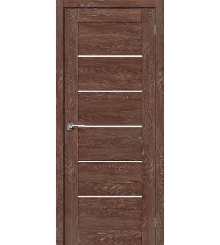 Дверь межкомнатная из эко шпона «Легно-22»  Chalet Grande остекление Сатинато белое
