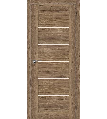 Дверь межкомнатная из эко шпона «Легно-22»  Original Oak остекление Сатинато белое