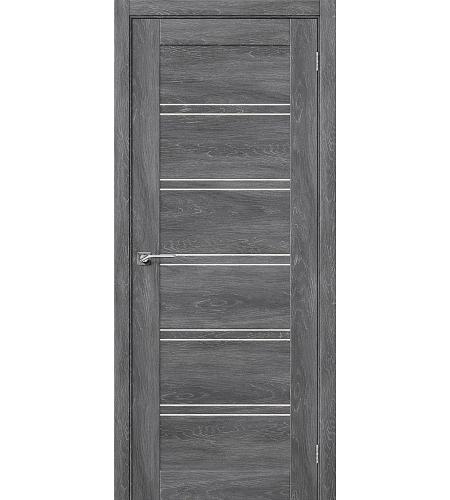 Дверь межкомнатная из эко шпона «Легно-28»  Chalet Grasse остекление Сатинато белое