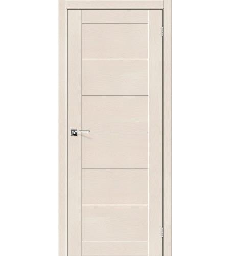 Дверь межкомнатная из эко шпона «Легно-21»  Cappuccino Softwood глухая