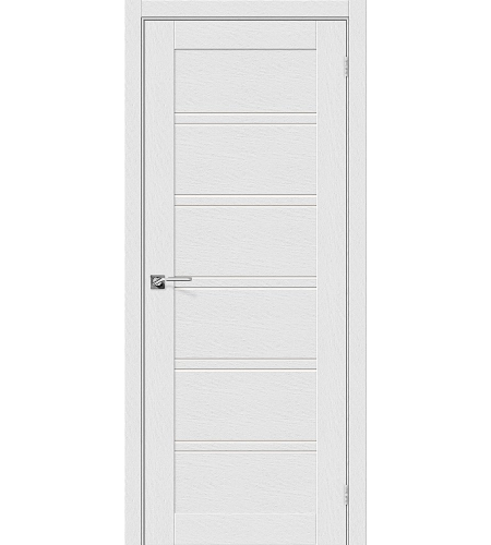 Дверь межкомнатная из эко шпона «Легно-28»  Virgin остекление Сатинато белое