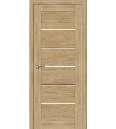 Дверь межкомнатная из эко шпона «Легно-22»  Organic Oak остекление Сатинато белое