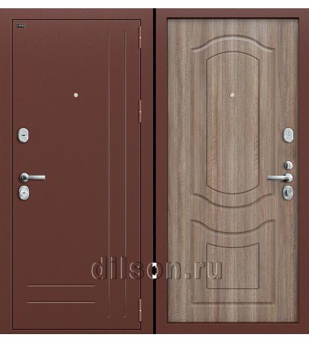 Дверь входная металлическая «Р2-210» Антик Медь/Темный Орех