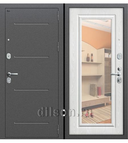 Дверь входная металлическая «Р2-216» Антик Серебро/Беленый Дуб