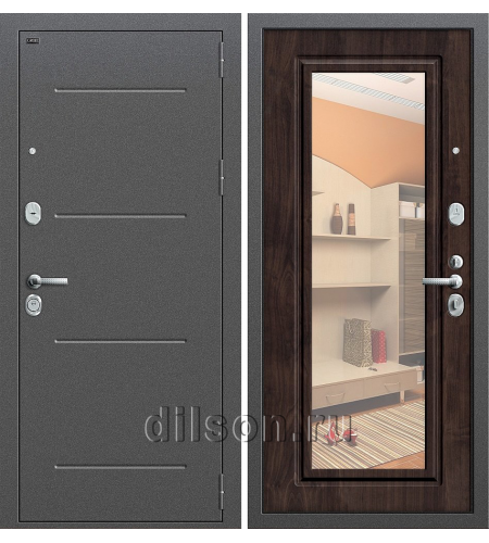 Дверь входная металлическая «Р2-216» Антик Серебро/Темная Вишня