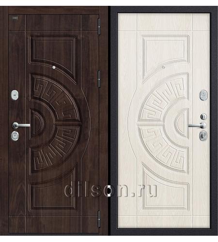 Дверь входная металлическая «Р3-312» Темная Вишня/Беленый Дуб