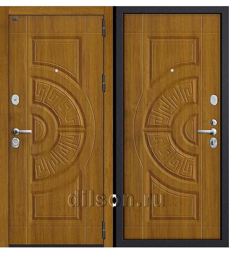Дверь входная металлическая «Р3-312» Золотой Дуб/Золотой Дуб