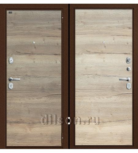Дверь входная металлическая «Т3-300» Tobacco Oak/Natural Oak