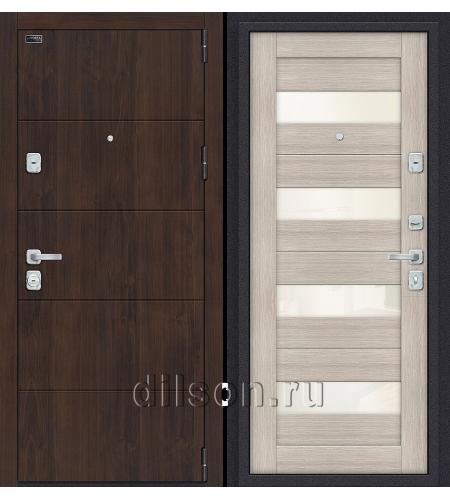 Дверь входная металлическая «Porta M 4.П23» Almon/Cappuccino Veralinga