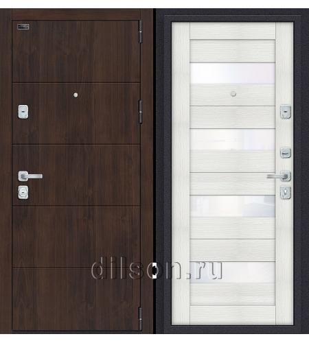 Дверь входная металлическая «Porta M 4.П23» Almon/Bianco Veralinga