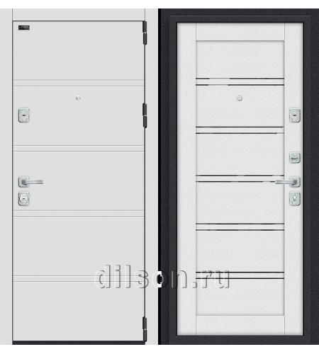 Дверь входная металлическая «Porta M 8.Л28» White Stark/Virgin
