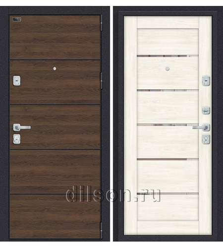 Дверь входная металлическая «Porta M П50.Л22 » Tobacco Greatwood/Nordic Oak