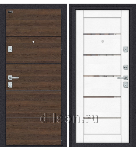 Дверь входная металлическая «Porta M П50.Л22» Tobacco Greatwood/White Softwood