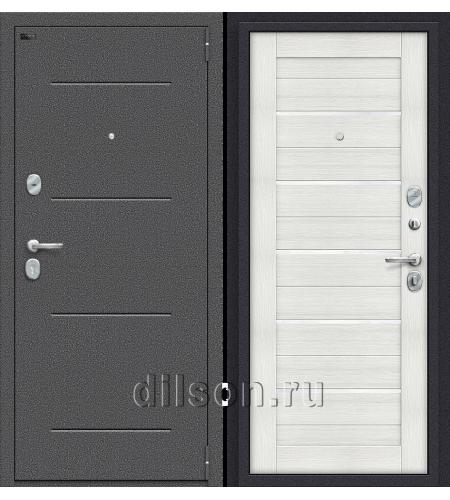 Дверь входная металлическая «Porta S 104.П22» Антик Серебро/Bianco Veralinga