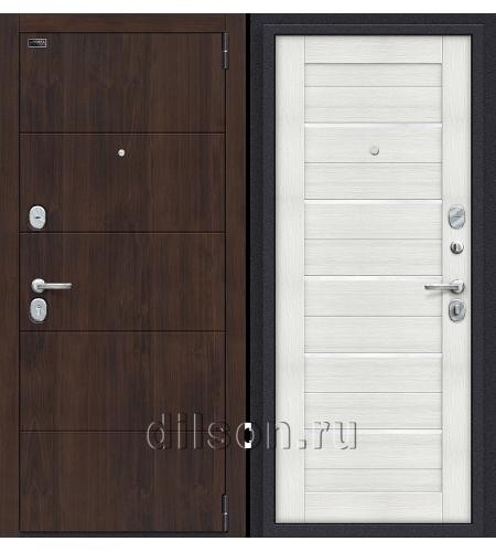 Дверь входная металлическая «Porta S 4.П22 (Прайм)» Almon 28/Bianco Veralinga