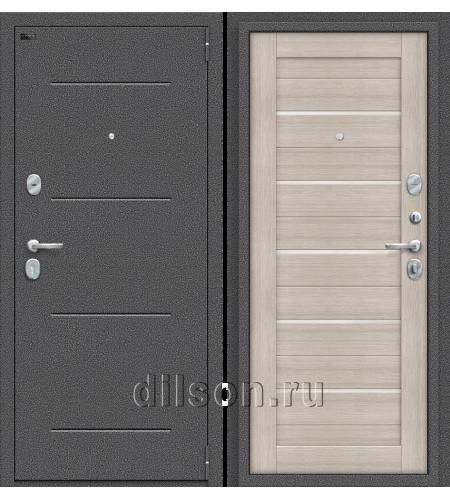 Дверь входная металлическая «Porta S 104.П22» Антик Серебро/Cappuccino Veralinga