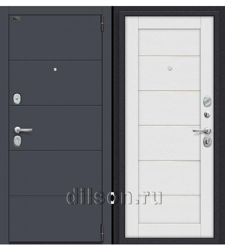 Дверь входная металлическая «Porta S 4.Л22» Graphite Pro/Virgin