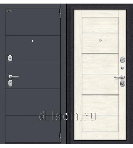 Дверь входная металлическая «Porta S 4.Л22» Graphite Pro/Nordic Oak