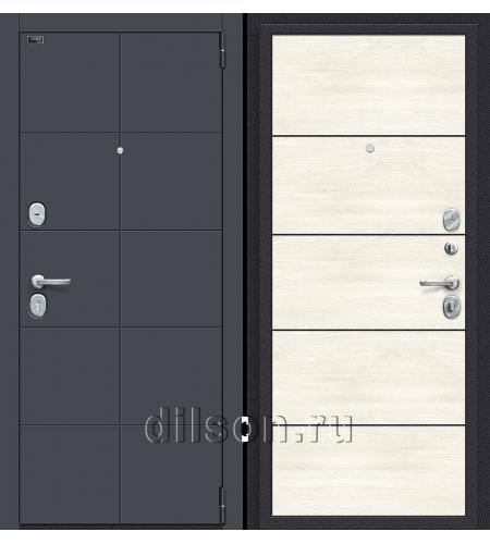 Дверь входная металлическая «Porta S 10.П50» Graphite Pro/Nordic Oak