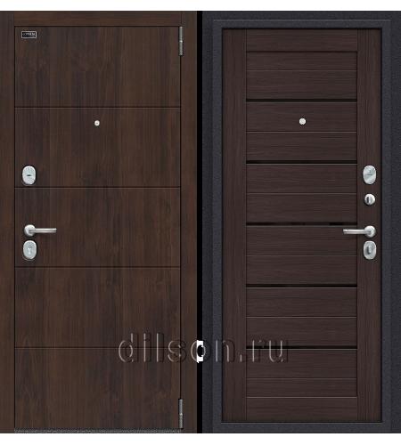 Дверь входная металлическая «Porta S 4.П22 (Прайм)» Almon 28/Wenge Veralinga