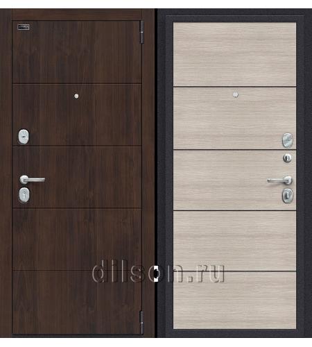 Дверь входная металлическая «Porta S 4.П50 (AB-6)» Almon 28/Cappuccino Veralinga