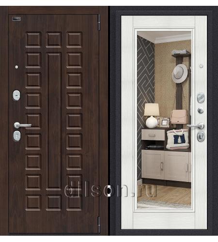 Дверь входная металлическая «Porta S 51.П61 (Урбан)» Almon 28/Bianco Veralinga