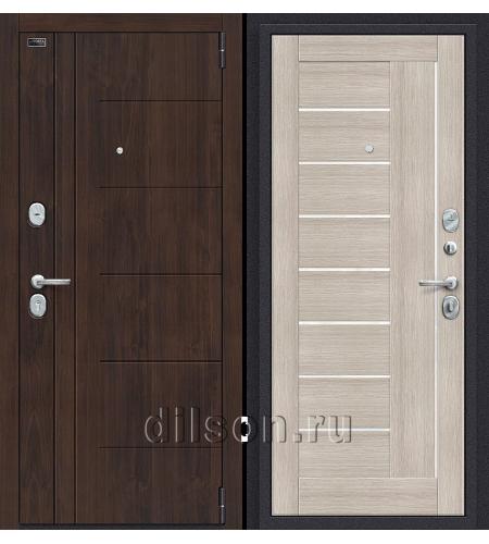 Дверь входная металлическая «Porta S 9.П29 (Модерн)» Almon 28/Cappuccino Veralinga