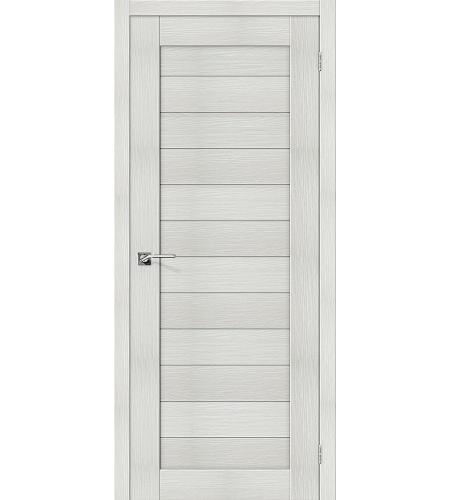 Дверь межкомнатная из эко шпона «Порта-21»  Bianco Veralinga глухая