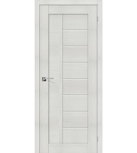Дверь межкомнатная из эко шпона «Порта-26»  Bianco Veralinga глухая