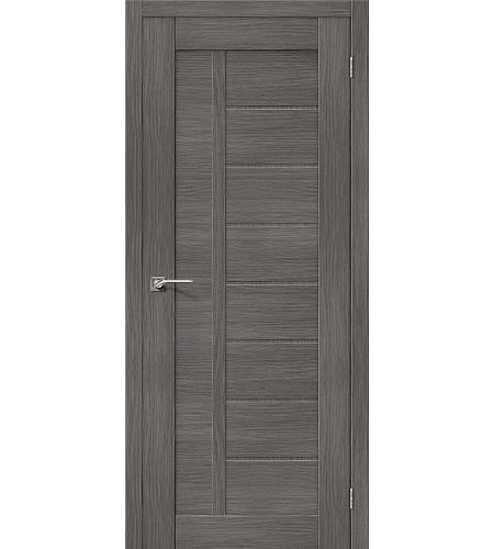 Дверь межкомнатная из эко шпона «Порта-26»  Grey Veralinga глухая