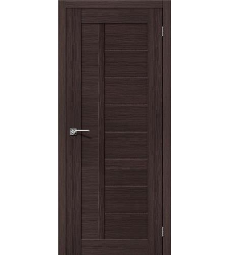 Дверь межкомнатная из эко шпона «Порта-26»  Wenge Veralinga глухая