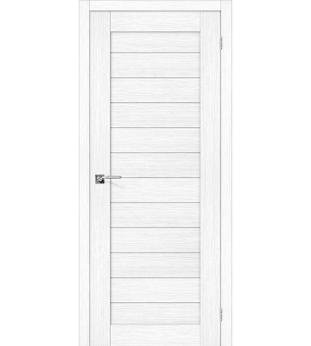 Дверь межкомнатная из эко шпона «Порта-21»  Snow Veralinga глухая
