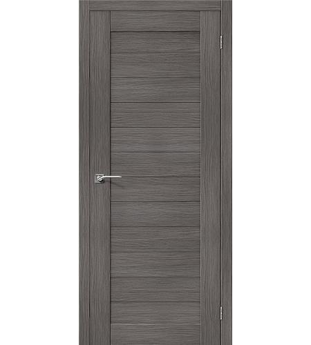 Дверь межкомнатная из эко шпона «Порта-21»  Grey Veralinga глухая